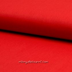 Lin/coton stretch rouge