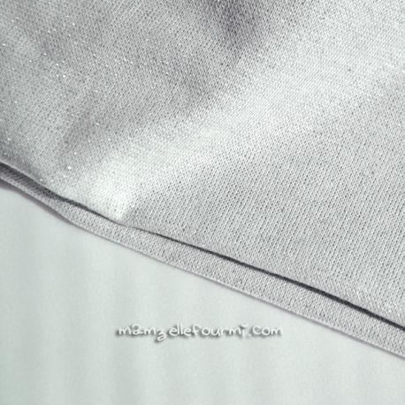Bord-côte gris lurex argent