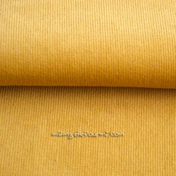 Velours milleraies stretch moutarde