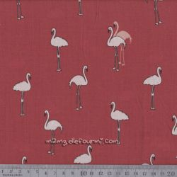 Viscose flamants vieux rose