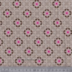 Velours milleraies arabesques beige