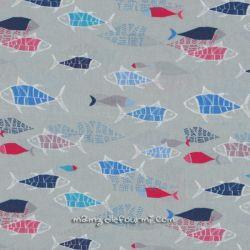 Viscose fish gris clair