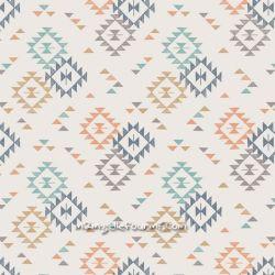 Coton triangle print crème