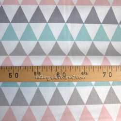 Coton natté triangles