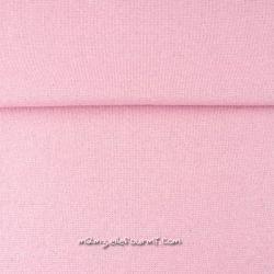 Bord-côte rose lurex argent