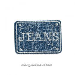 Patch thermocollant jeans bleu