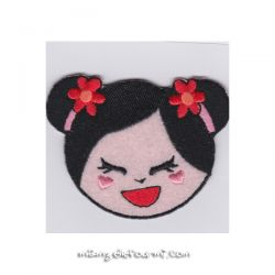 Patch thermocollant china smile