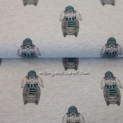 Molleton lapintello gris/bleu