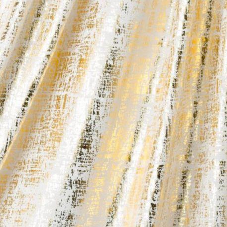 Jersey métallique blanc/or