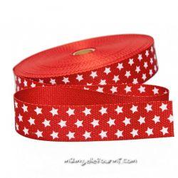 Sangle étoiles rouge