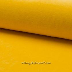 Jersey velours Oko-Tex jaune foncé
