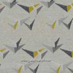 Maille jacquard birdie bloom envol gris clair