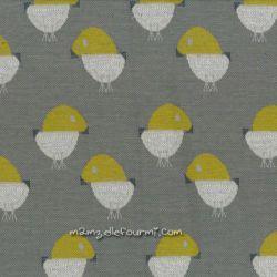 Maille jacquard birdie bloom poussins gris
