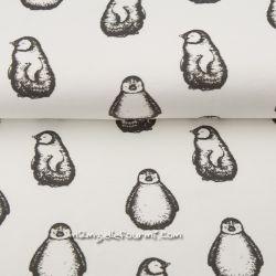 Jersey bio pingouins blanc