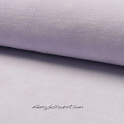 Jersey velours Oko-Tex lilas