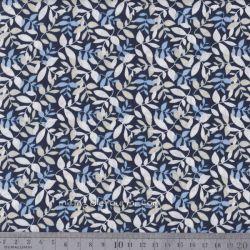Popeline elm bleu