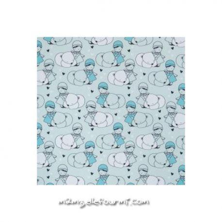 Softshell imprimé ours polaire mint