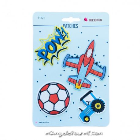 Lot de patches thermocollants pow tractor