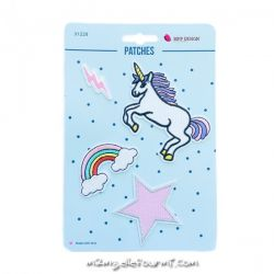 Lot de patches thermocollants unicorn lightning