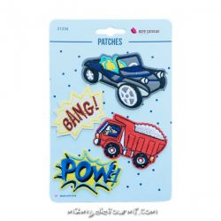 Lot de patches thermocollants bang car