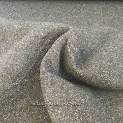 Molleton lurex gris moyen