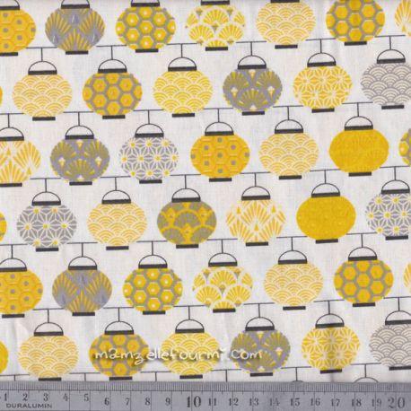 Cretonne lampions jaune