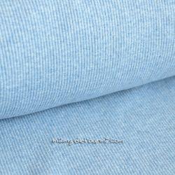 Bord-côte chiné bleu