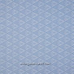 Jacquard stretch graphique bleu jean