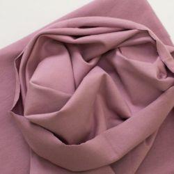Bord-côte bio tubulaire vieux rose