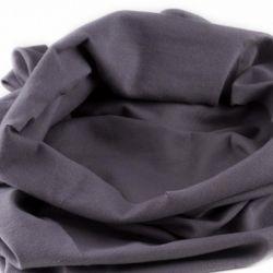 Bord-côte bio tubulaire gris acier