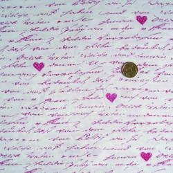 Jersey lettre d'amour rose