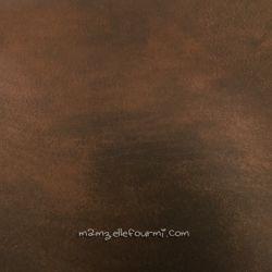 Simili effet cuir brun