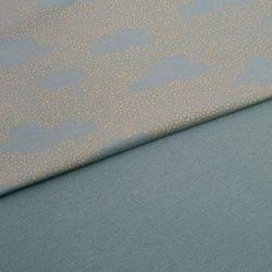 Sweat bio pünktchenwolken bleu gris/or