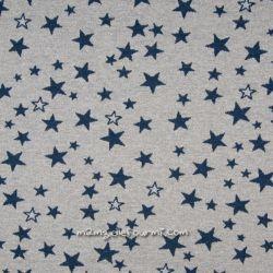 Maille jacquard lurex étoiles