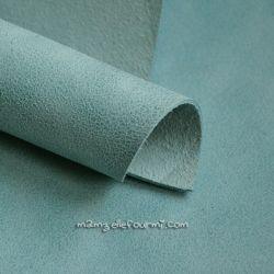 Cuir marbré gris/bleu
