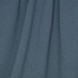 Molleton bio chiné bleu-gris