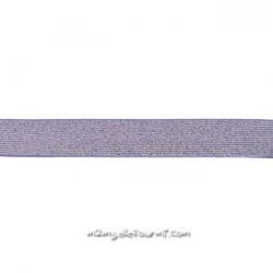 Élastique 25 mm lurex mauve