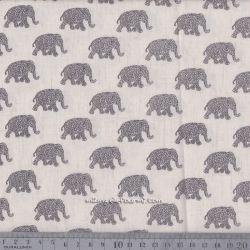 Viscose/lin éléphants