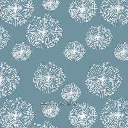 Sweat/molleton dandelions bleu/gris