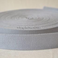 Sangle coton mélangé souris 25mm