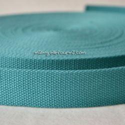 Sangle coton mélangé océan 25mm