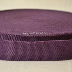 Sangle coton mélangé raisin 25mm