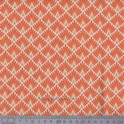 Cretonne écailles dorées orange