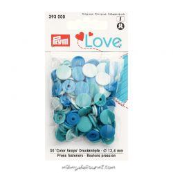 Pressions Prym rondes assortiment bleu