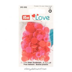 Pressions Prym rondes assortiment rouge