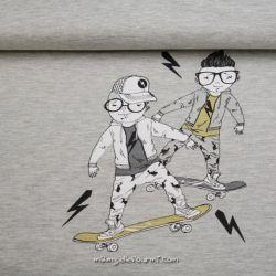 Sweat panneau skater gris