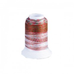 Fil mousse Wooly Nylon multicolore noël
