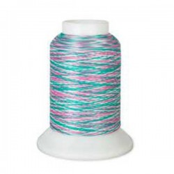 Fil mousse Wooly Nylon multicolore vert/rose