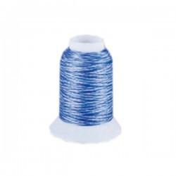 Fil mousse Wooly Nylon multicolore bleu