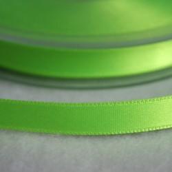 Ruban satin 6 mm vert fluo